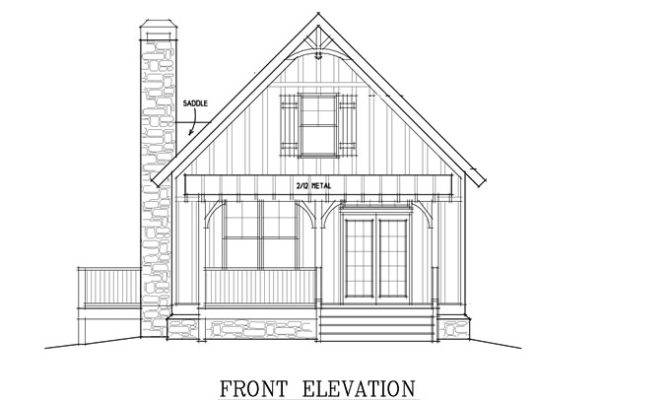 Small Cabin Plan Loft House Plans