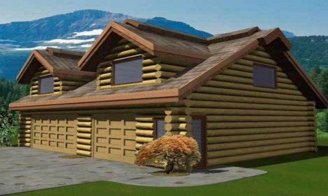 Small Cabin Plans Log Garage Home