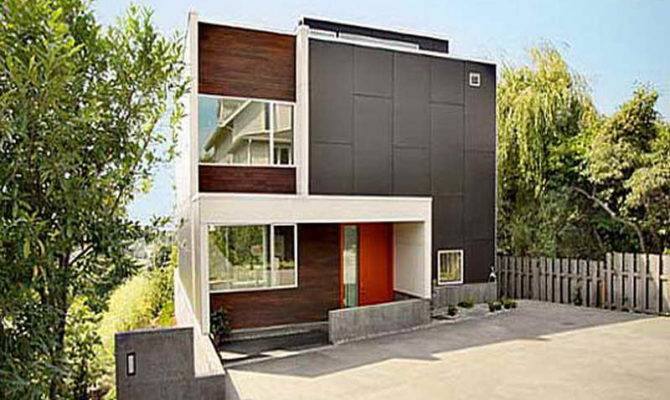Small Contemporary House Plans Witn Wooden Fences