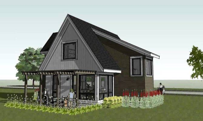 Small Cottage Cabin Beach Home Design Scandia Modern House