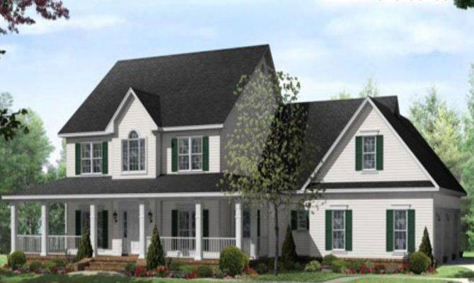 Small Country Farmhouse Wrap Around Porch Hip Roof