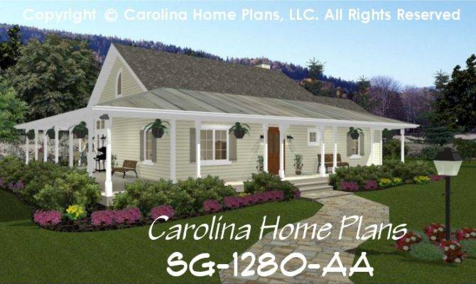 Small Country House Plans Porches Living