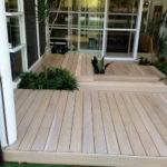 Small Courtyard Decking Area Mediterranean Melbourne