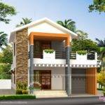 Small Double Storied House Feet Kerala Home Design