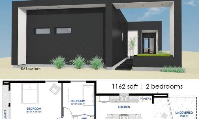 Small Front Courtyard House Plan Custom Modern