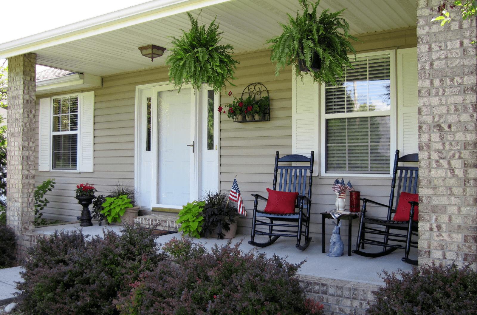 Small Front Porch Decorating Ideas Home Plans Blueprints 111529