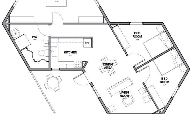 Small Hexagon House Plans Regard Really Encourage