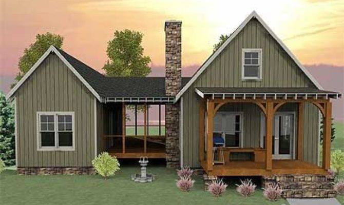 Small Home Plans Screened Porches