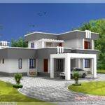 Small House Plans Flat Roof Designs Lrg