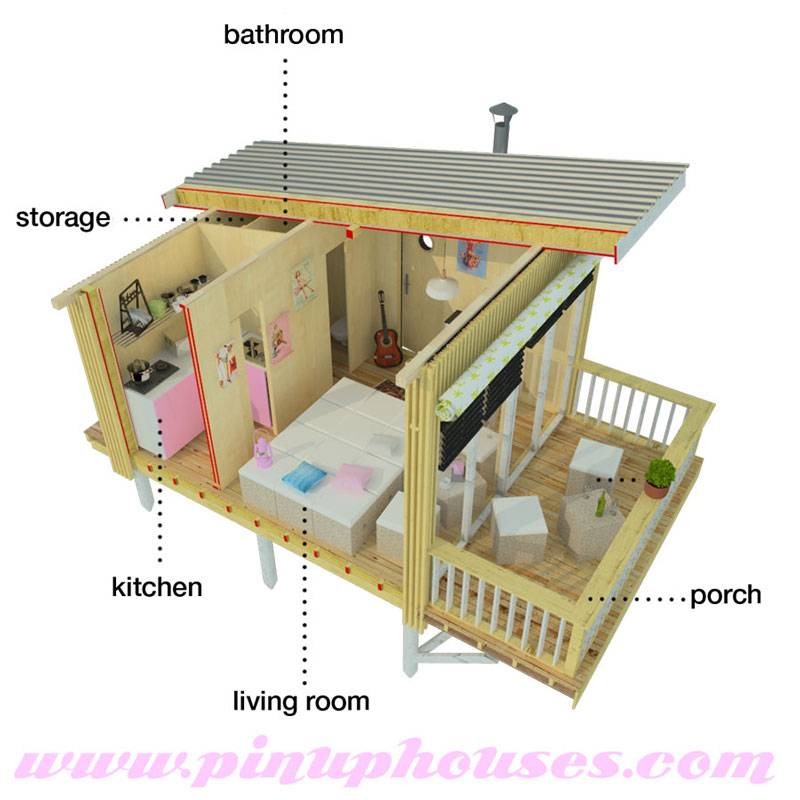Small Shed Roof House Design