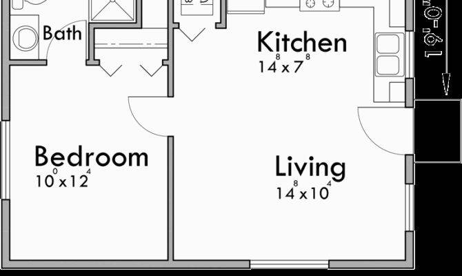 Small House Plans Studio One Bedroom