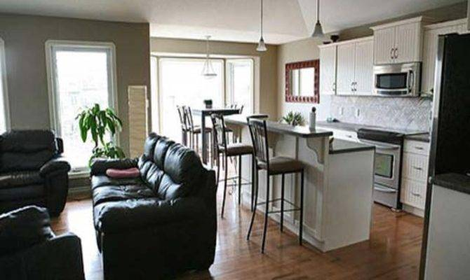 Small Living Room Kitchen Combo