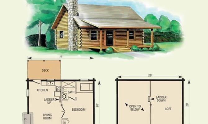 Small Log Cabin Floor Plans Loft