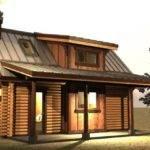 Small Log Cabin Loft Tiny House Pinterest