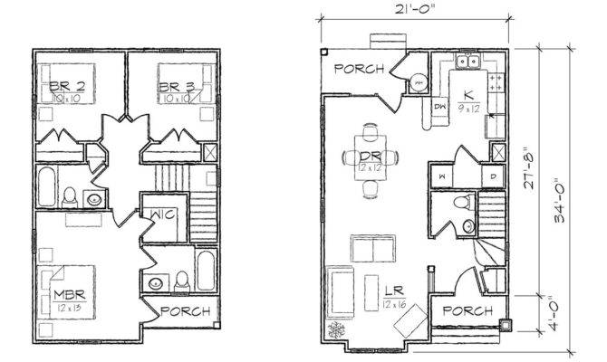 Small Lot House Plans Narrow Home Deco