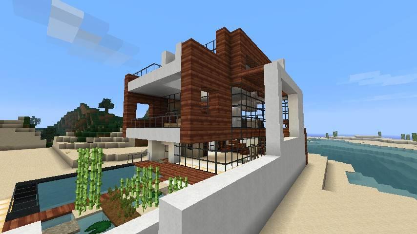 inside minecraft mansion modern