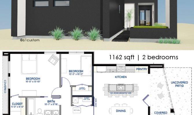 Small Modern House Plan Courtyard Plans