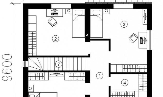 Small Modern One Story House Plans