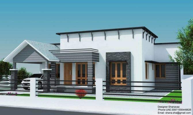 Small Plot Bedroom Single Floor House Kerala