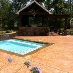 Small Pool Design Deck Outdoor Kitchen Builder