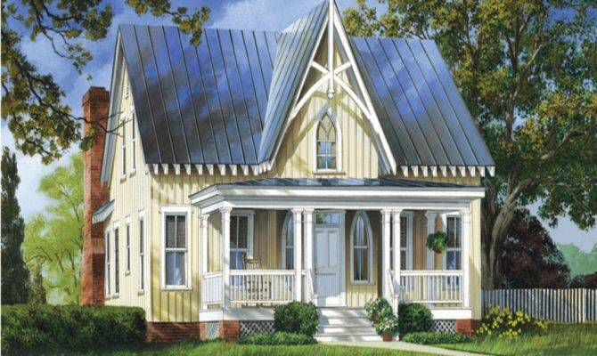 Small Porch Designs Gothic Style House Plans