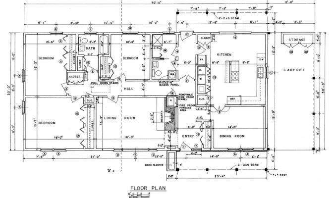Small Rectangular House Floor Plans Design