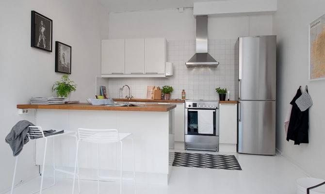 Small Single Room Apartment Black White