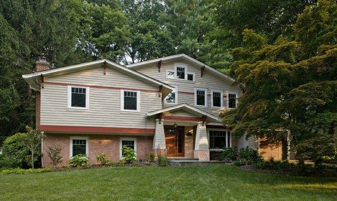 Small Split Level Home Dark Chopped Spaces Remodeled Into