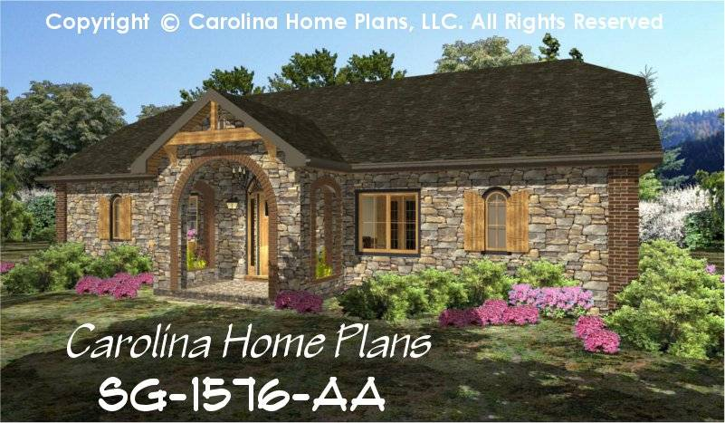 Stone Cottage House Plan Chp Affordable