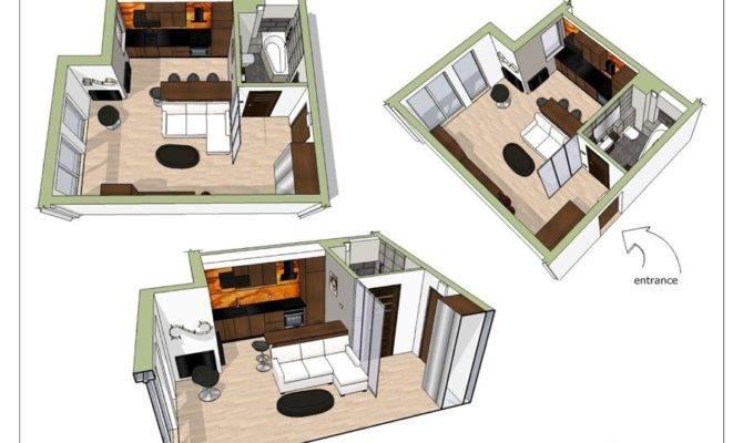 Small Studio Apartment Elegant Black White Interior Design