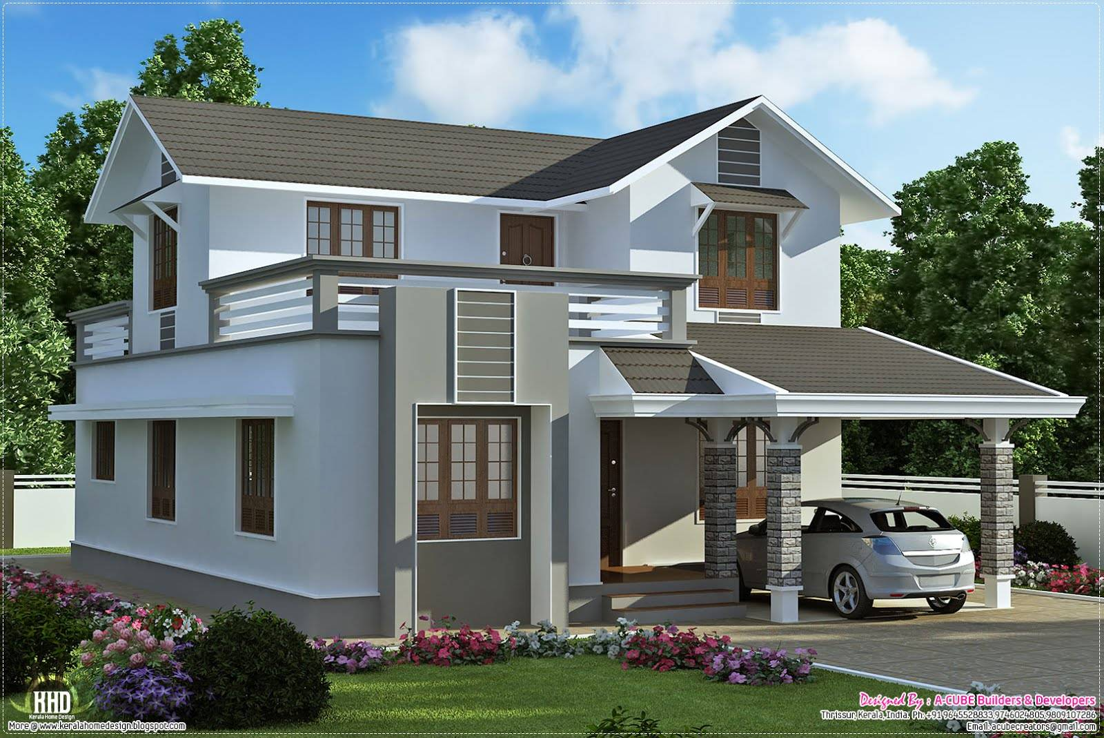 Small Two Storey House Designs Design Home Plans Blueprints 5342