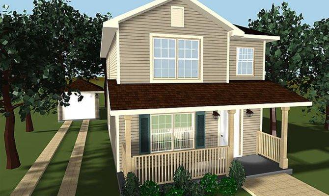 Small Two Story House Plans Porches
