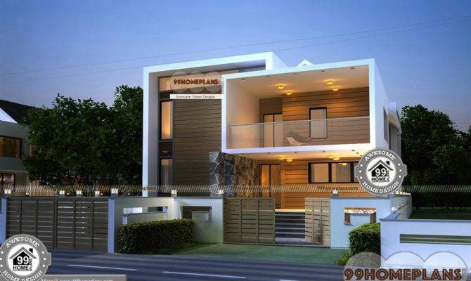 Small Urban House Plans Double Floor New Style Modern Home