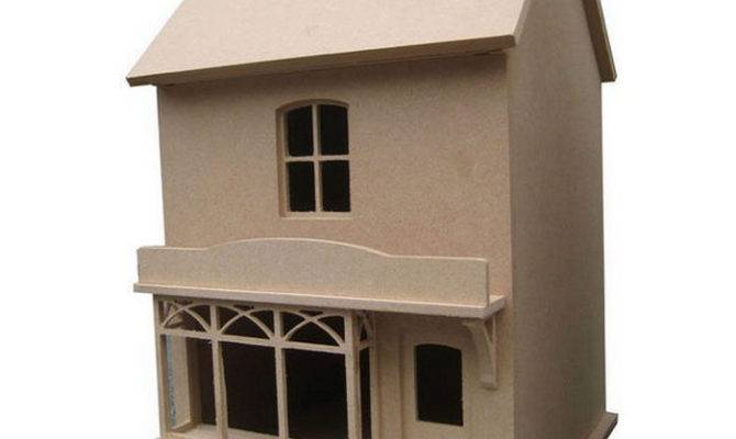 Small Victorian Style Dolls House Shop Unpainted Kit