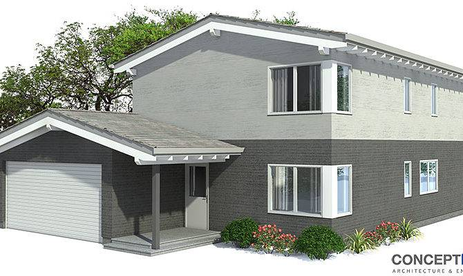 Smart Placement Contemporary House Plans Narrow Lots