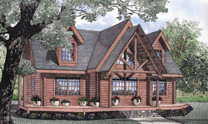 Snow Lake Rustic Log Cabin Home Plan House Plans More