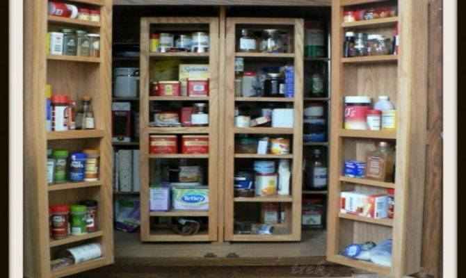 Sophisticated Large Pantry Cabinets Doors Tiered