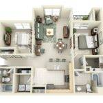 Sophisticated Two Bedroom Apartment Interior Design Ideas