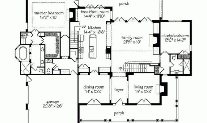 Southern Colonial House Floor Plans Master