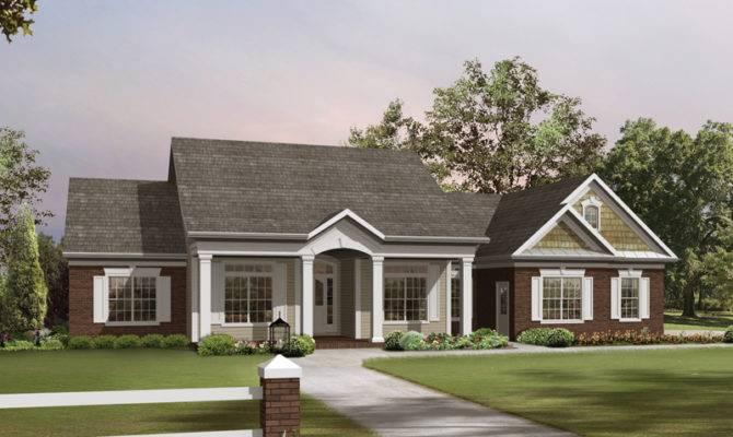 Southern Colonial Ranch House Plans Design