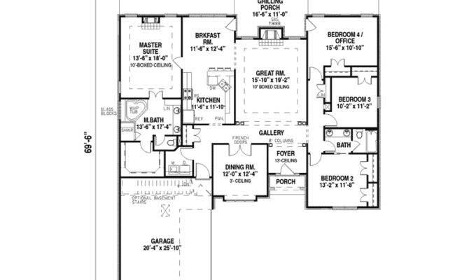 Southern House Plan First Floor Plans More