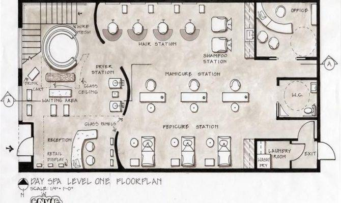 Spa Layout Salon Floor Plans Day