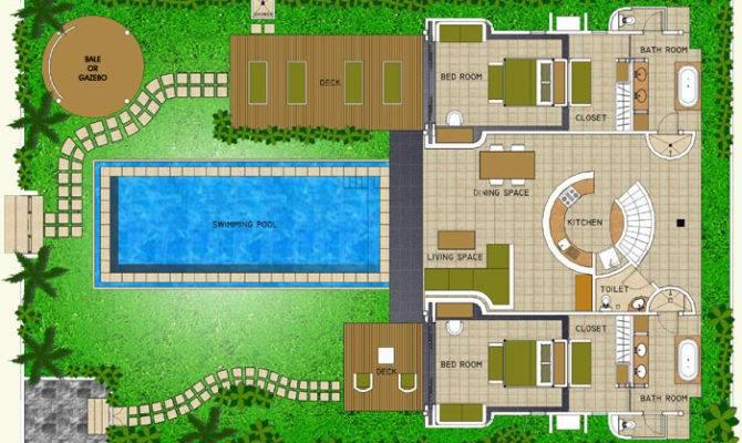Space Bali Villa Layout