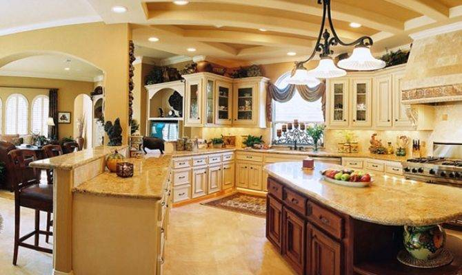 Spacious Kitchen Design Interior Ideas Decorating