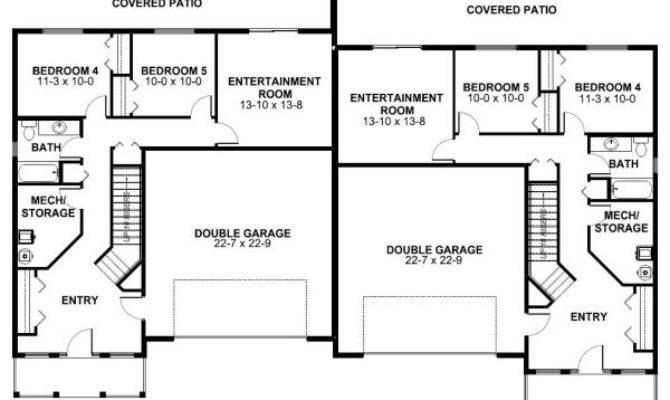 Spacious Side Duplex House Plan Hunters