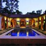 Spanish Colonial Courtyard House Plans