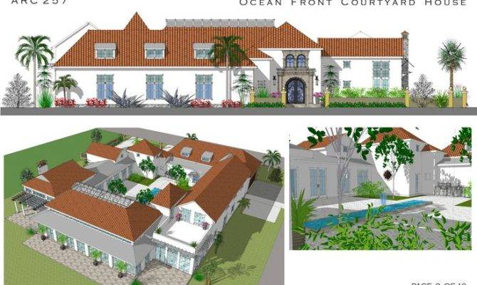 Spanish Style Courtyard Homes Cocoa Beach Florida United