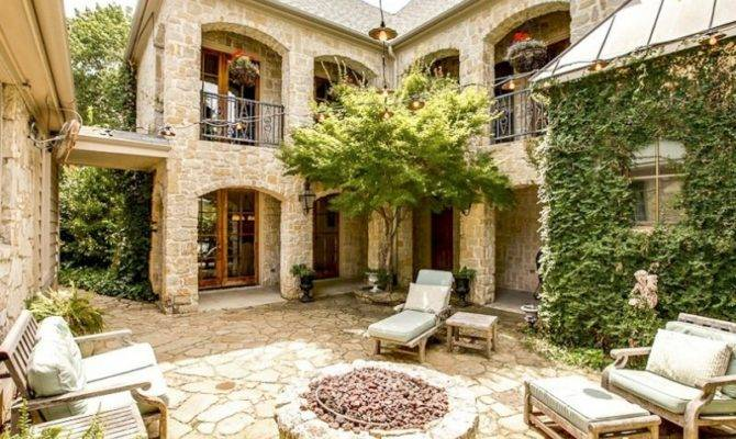 Spanish Style House Plans Interior Courtyard Design