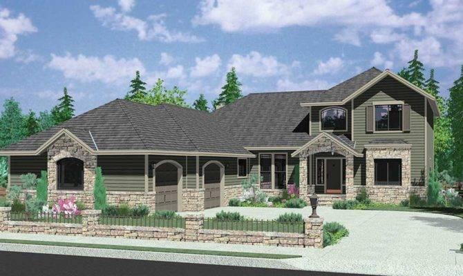 Special Corner Lot House Plans Side Load Garage