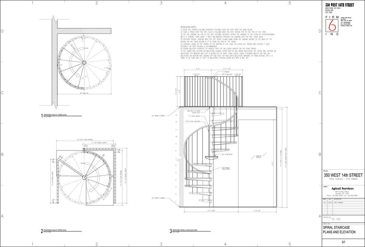Spiral Stair Floor Plan Design Home